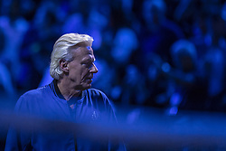 September 21, 2018 - Chicago, Illinois, U.S - Team Europe coach BJORN BORG looks on during the third singles match on Day One of the Laver Cup at the United Center in Chicago, Illinois. (Credit Image: © Shelley Lipton/ZUMA Wire)