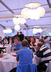 Dinning at the opening ceremony for the St.Moritz Match Race. Photo:Chris Davies/WMRT