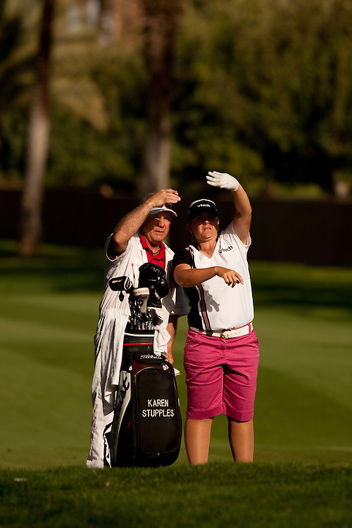 Karen Stupples during the third round of the 2010 Kraft-Nabisco Championship, photographed at the Dinah Shore Course at Mission Hills Country Club in Rancho Mirage, California on Saturday, April 3, 2010. Photograph © 2010 Darren Carroll.
