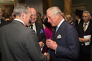 SIMON JENKINS; DAVID CAMPBELL; THE PRINCE OF WALES, Everyman 25th Anniversary party, Spencer House. St. James' Place. London. SW1. 26 October 2016