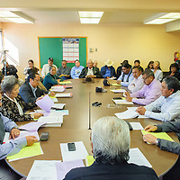 101614       Adron Gardner/Independent<br /> <br /> The Navajo Nation Board of Election Supervisors meets to discuss next steps for Navajo Nation presidential election voting in Window Rock Thursday.