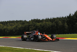 August 25, 2017 - Francorchamps, Belgium - FERNANDO ALONSO of Spain and McLaren Honda drives during practice session of the 2017 Formula 1 Belgian Grand Prix in Francorchamps, Belgium. (Credit Image: © James Gasperotti via ZUMA Wire)
