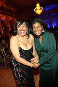l to r: Gail Perry and Kamilah Turner at The Fifth Annual Grace in Winter Gala honoring Susan Taylor, Kephra Burns, Noel Hankin and Moet Hennessey USA and benfiting The Evidence Dance Company held at The Plaza Hotel on February 3, 2009 in New York City.