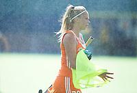 BOOM - Jacky Schoenaker tijdens de eerste poule wedstrijd van Oranje tijdens het Europees Kampioenschap hockey   tussen de vrouwen Nederland en Ierland (6-0). ANP KOEN SUYK