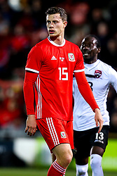 James Lawrence of Wales - Mandatory by-line: Robbie Stephenson/JMP - 20/03/2019 - FOOTBALL - The Racecourse Ground - Wrexham, United Kingdom - Wales v Trinidad and Tobago - International Challenge Match