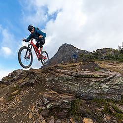 Mark Fasken mountain biking on Mt Cartier in Revelstoke BC