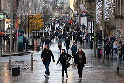 Glasgow, Scotland, UK. 1 November 2020. The Scottish Government today announced that from Friday 20 November, the most severe level 4 lockdown will be introduced in eleven Scottish council areas. This means non essential shops will close and bars, restaurants and cafes. Pictured; Buchanan Street busy with shoppers.   Iain Masterton/Alamy Live News