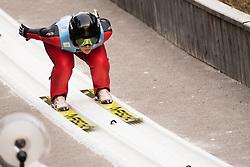 February 7, 2019 - Ljubno, Savinjska, Slovenia - Virag Voros of Hungary competes on qualification day of the FIS Ski Jumping World Cup Ladies Ljubno on February 7, 2019 in Ljubno, Slovenia. (Credit Image: © Rok Rakun/Pacific Press via ZUMA Wire)