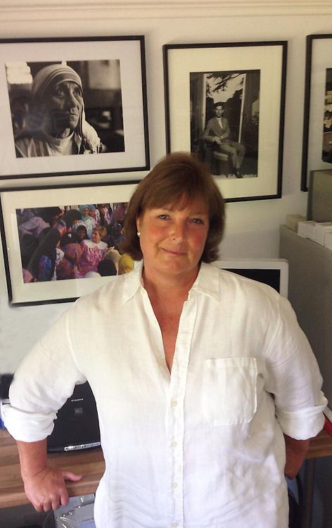 British photographer Jayne Fincher seen in her office in Surrey in 2013.