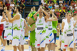 Mirza Begic of Slovenia, Jure Balazic of Slovenia after the friendly match between National teams of Slovenia and Turkey for Eurobasket 2013 on August 4, 2013 in Arena Zlatorog, Celje, Slovenia. (Photo by Vid Ponikvar / Sportida.com)