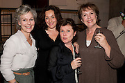 DIANA HARDCASTLE; LUCY COHU; IMELDA STAUNTON; PENELOPE WILTON, Press night for Edwards Albee's A Delicate Balance at the Almeida Theatre. London. 12 May 2011. <br /> <br />  , -DO NOT ARCHIVE-© Copyright Photograph by Dafydd Jones. 248 Clapham Rd. London SW9 0PZ. Tel 0207 820 0771. www.dafjones.com.