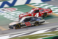 July 13, 2018 - Sparta, Kentucky, United States of America - Ty Majeski (60) and Ross Chastain (4) battle for position during the Alsco 300 at Kentucky Speedway in Sparta, Kentucky. (Credit Image: © Chris Owens Asp Inc/ASP via ZUMA Wire)