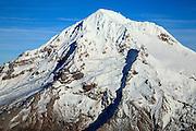 USA, Oregon,  aerial landscape of Mt. Hood.