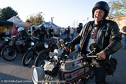Dave Currier rode his 1915 Harley-Davidson model F with Milwaukee Tools behind him as a sponsor, in the Motorcycle Cannonball coast to coast vintage run. Stage 10 (299 miles) from Sturgis, SD to Billings, MT. Tuesday September 18, 2018. Photography ©2018 Michael Lichter.