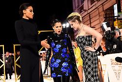 Ella Balinska, Naomi Scott and Kristen Stewart (left-right) attending the Charlie's Angels UK Premiere at the Curzon Mayfair, London.