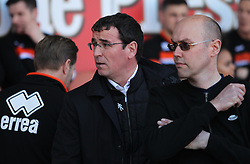 Blackpool manager Gary Bowyer (C) - Mandatory by-line: Jack Phillips/JMP - 14/05/2017 - FOOTBALL - Bloomfield Road - Blackpool, England - Blackpool v Luton Town - Football League 2 Play-off Semi Final Leg 1