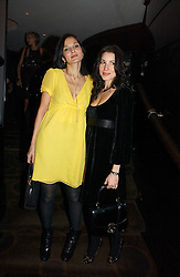 Left to right, YASMIN MILLS and LAUREN KEMP at a party following the premier of Blood Diamonds hosted by Amnesty at The Dorchester, Park Lane, London on 23rd January 2007.<br />