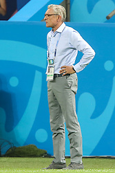 June 24, 2018 - Kazan, Russia - Head coach Adam NawaÅ'ka of Poland is seen during the Russia 2018 World Cup Group H football match between Poland and Colombia at the Kazan Arena in Kazan on June 24, 2018. Colombia won 0-3. (Credit Image: © Foto Olimpik/NurPhoto via ZUMA Press)