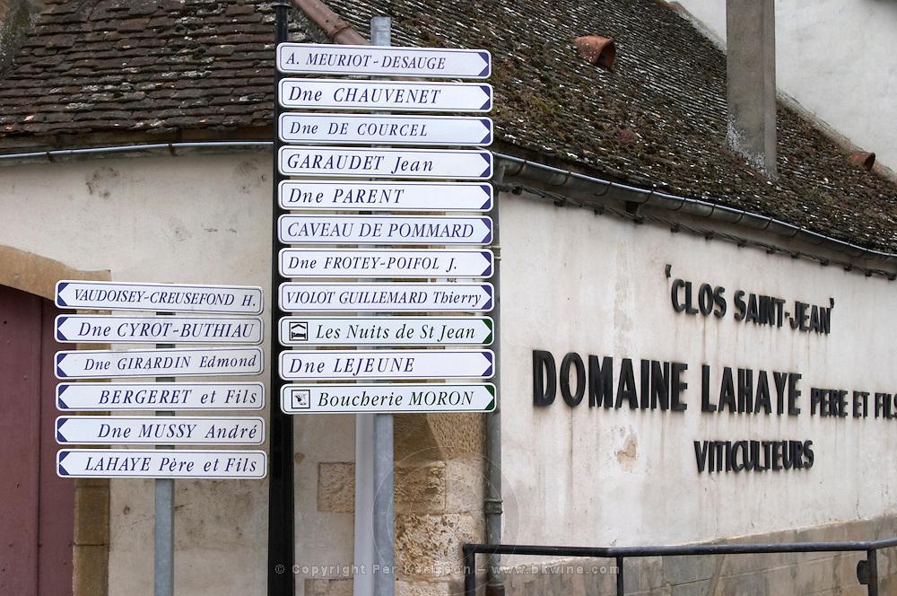 street sign pommard cote de beaune burgundy france