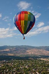 """Ballon Over Reno 4"" - This hot air balloon was photographed from a balloon during the 2011 Great Reno Balloon Race."