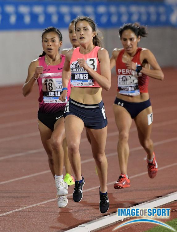 Apr 20, 2018; Torrance, CA, USA; Sandie Raines places second in invitational women's 5,000m heat in 15:56.33  during the 60th Mt. San Antonio College Relays at Murdock Stadium.