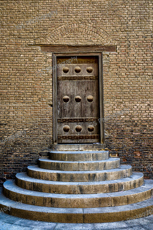 One of the 19 entrance doors to the Ibn Tulun Mosque in Cairo