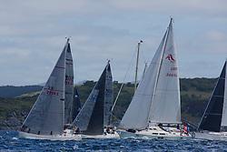 Clyde Cruising Club's Scottish Series 2019<br /> 24th-27th May, Tarbert, Loch Fyne, Scotland<br /> <br /> Day 1, Class 5 /6 start 2914C, Cool Bandit 2,  FYC,CCC,LSC, Moody 336, GBR5005C, Reflection, RNCYC, Elan GT5<br /> <br /> Credit: Marc Turner / CCC