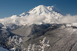 North America, United States, Washington, View of Mt. Rainier from Crystal Mountain