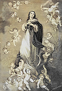 Immaculate Conception From ' The pictorial Catholic library ' containing seven volumes in one: History of the Blessed Virgin -- The dove of the tabernacle -- Catholic history -- Apparition of the Blessed Virgin -- A chronological index -- Pastoral letters of the Third Plenary. Council -- A chaplet of verses -- Catholic hymns  Published in New York by Murphy & McCarthy in 1887