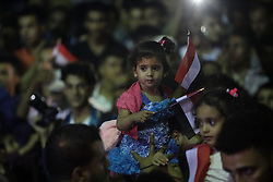 October 13, 2017 - An evening of artistic celebration has taken place in the Yemeni city of Taiz to mark the 54th anniversary of the 1963 October 14th Revolution which led to the end of the British rule in the current south of Yemen. The ceremony was held in the Jamal Abdul Nasser street in the centre of Taiz, and it was the first time that a celebration with music was held in the Yemeni city since the eruption of the war in Yemen, in 2015 (Credit Image: © Abdulnasser Alseddik/ImagesLive via ZUMA Wire)