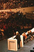 23.08.1998, Germany/Dortmund:<br /> Helmut Kohl, CDU, Bundeskanzler, spricht auf  dem Wahlkampfauftakt der CDU, Westfalenhalle<br /> IMAGE: 19980823-01/03-27