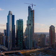 NEMA Chicago/One Grant Park under construction in early 2019