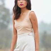 Fashion model for Cosima clothing in San Diego California