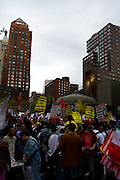 Immigration Demonstration in Union Square, New York, United States. May Day 2007