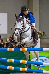 De Cock Lio, BEL, Addie van't Kamertje<br /> Nationaal Indoor Kampioenschap Pony's LRV <br /> Oud Heverlee 2019<br /> © Hippo Foto - Dirk Caremans<br /> 09/03/2019