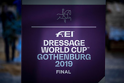 Dressage World Cup Finales<br /> LONGINES FEI World Cup™ Finals Gothenburg 2019<br /> © Dirk Caremans<br /> 05/04/2019