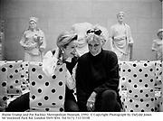 Blaine Trump and Pat Buckley Metropolitan Museum. 1992<br />© Copyright Photograph by Dafydd Jones<br />66 Stockwell Park Rd. London SW9 0DA<br />Tel 0171 733 0108