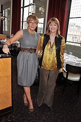 Left to right, ANNE ROBINSON and CLARA WEATHERALL at a ladies lunch in support of Maggie's Barts hosted by Judy Naake, Clara Weatherall and Caroline Collins at Le Cafe Anglais, 8 Porchester Gardens, London W2 on 19th March 2013.