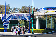 Tourists Walking to Disneyland Resort