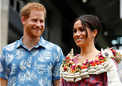File photo dated 24/10/18 of the Duke and Duchess of Sussex visiting the University of the South Pacific in Suva, Fiji, on day two of the royal couple's visit to Fiji. The royal couple have issued a personal message on their future.
