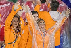21-08-2016 BRA: Olympic Games day 22, Rio de Janeiro<br /> Rio neemt afscheid van de Olympische Spelen, sluitingsceremonie met veel dans, muziek en saaiheid / Michelle van der Pols, Jasmina Jankovic