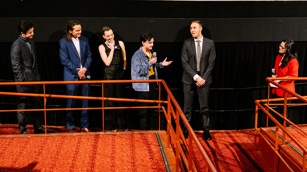 """NEW YORK, NY - APRIL 28: Cast and crew answer audience questions following the world premiere of A24's film """"Low Tide"""" during the 2019 Tribeca Film Festival at Village East Cinema on April 28, 2019 in New York, New York. (PHOTO CREDIT: EricMTownsend.com)"""