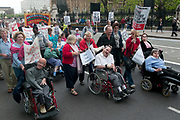 Hardest Hit demonstration  against government cuts to services to people with disabilities. May11,