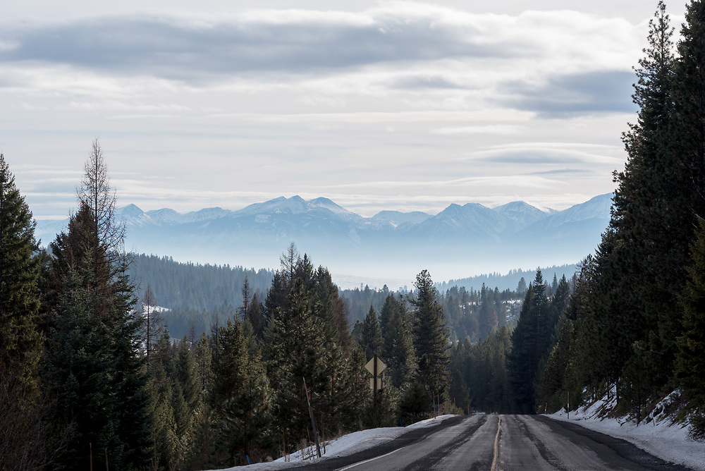 View of the Wallowa Mountains from Highway 3 in Northeast Oregon.