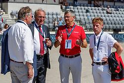 KEMPERMANN Frank, KONICKX Louis (Parcourschef), BECKER Otto (Bundestrainer Springen), EHNING Marcus (GER)<br /> Rotterdam - Europameisterschaft Dressur, Springen und Para-Dressur 2019<br /> Parcoursbesichtigung<br /> Longines FEI Jumping European Championship part 2 - team 2nd and final round<br /> Finale Teamwertung 2. Runde<br /> 24. August 2019<br /> © www.sportfotos-lafrentz.de/Stefan Lafrentz