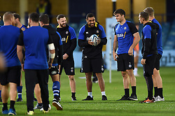 Bath Rugby players look on prior to the match - Mandatory byline: Patrick Khachfe/JMP - 07966 386802 - 05/10/2018 - RUGBY UNION - The Recreation Ground - London, England - Bath Rugby v Exeter Chiefs - Gallagher Premiership Rugby