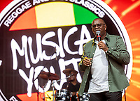 Musical Youth ,Dennis Seaton at Camp Bestival 2021, Lulworth Castle photo by Brian Jordan