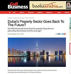 Gulf business; night skyline of Dubai