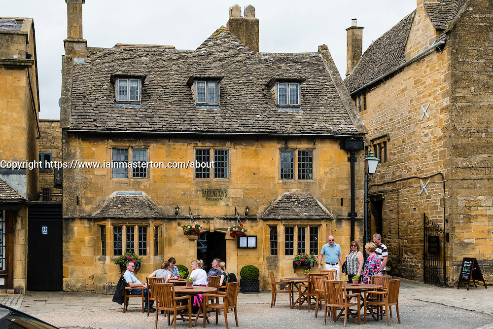 Barrington's Brasserie pub in village of Broadway in the Cotswolds Worcestershire, in England, United Kingdom