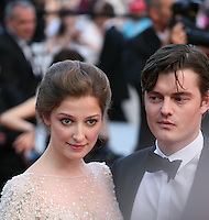 Alexandra Maria Lara and Sam Riley at the On The Road gala screening red carpet at the 65th Cannes Film Festival France. The film is based on the book of the same name by beat writer Jack Kerouak and directed by Walter Salles. Wednesday 23rd May 2012 in Cannes Film Festival, France.
